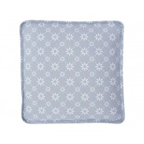Krasilnikoff box cushion cover grey with diagonal flower print