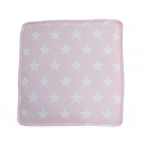 Krasilnikoff box cushion cover pink with white stars
