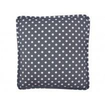 Krasilnikoff box cushion cover charcoal with dots white