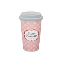 Krasilnikoff travel mug Super Freundin