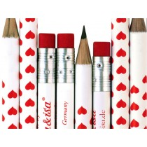 krima & isa pencil HEARTS RED