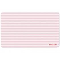 Striped breakfast plate in pink by krima & isa