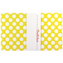 Breakfast plate in yellow with dots by krima & isa