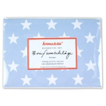 krima & isa envelope set stars blue