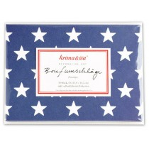 krima & isa envelope set stars dark blue