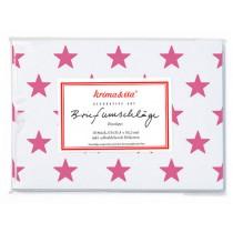 krima & isa envelope set white stars pink
