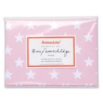 krima & isa envelope set stars pink