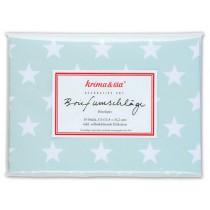 krima & isa envelope set stars turquoise