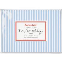 krima & isa envelope set STRIPES blue white