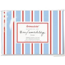 krima & isa envelope set LOLLIPOP blue red white