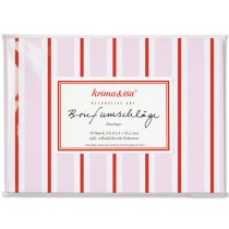 krima & isa envelope set LOLLIPOP pink red white
