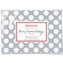 krima & isa envelope set SPOTS grey white