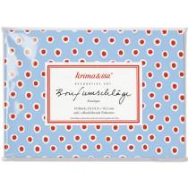 krima & isa envelope set DOTS blue red