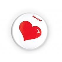 krima & isa button HEART RED