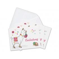 krima & isa invitation postcard set LLAMA