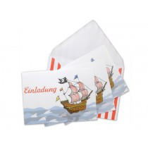 krima & isa postcard set pirate ship