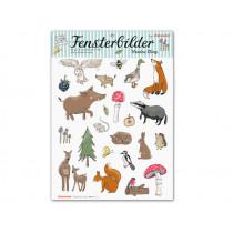 krima & isa window stickers FOREST ANIMALS