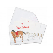 krima & isa postcard set PONY INVITATION english