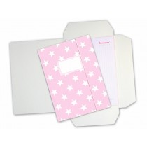 krima & isa folder map in pink with white stars