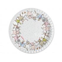 krima & isa paper plates animal parade