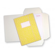 Yellow folder map with little dots