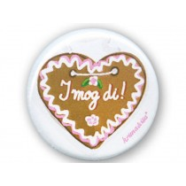 krima & isa Button GINGER BREAD HEART