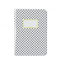 krima & isa Notebook A4 DOTS black