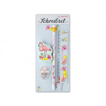 krima & isa Stationery Set FLAMINGO