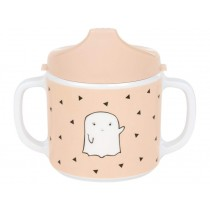 Lässig Melamine baby spout cup LITTLE SPOOKIES peach