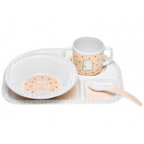 Lässig Melamine tableware set LITTLE SPOOKIES peach