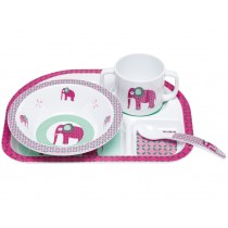 Lässig melamine tableware set Elephant