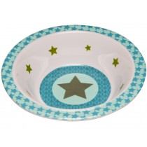 Melamine bowl with star in olive by Lässig