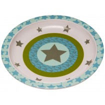 Melamine plate with star in olive by Lässig