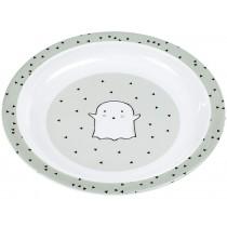 Lässig Melamine plate LITTLE SPOOKIES olive