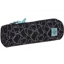 Lässig round school pencil case SPOOKY black