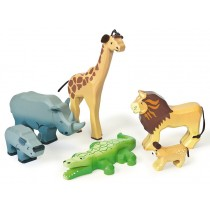 Le Toy Van Savannah Wild Animal Set
