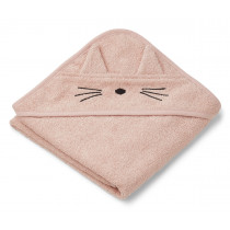 LIEWOOD Hooded Towel ALBERT Cat rose