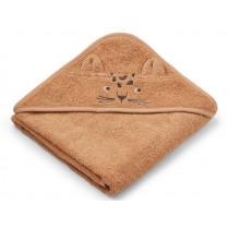LIEWOOD Hooded Towel ALBERT Leopard apricot
