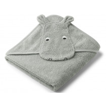 LIEWOOD Hooded Towel AUGUSTA Hippo dove blue