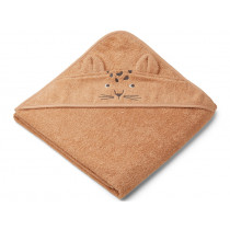 LIEWOOD Hooded Towel AUGUSTA Leopard apricot