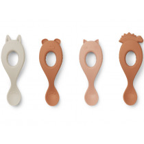 LIEWOOD 4 Silicone Spoons LIVA rose mix