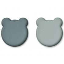 LIEWOOD Plate Marty BEAR blue mix