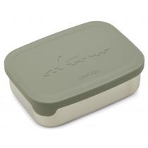 LIEWOOD Stainless Steel Lunchbox Nina DINO faune green