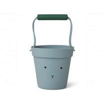 LIEWOOD Silicone Bucket Linda RABBIT sea blue