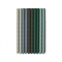 LIEWOOD 10 Silicone Straws TIMOTI Green Multi Mix