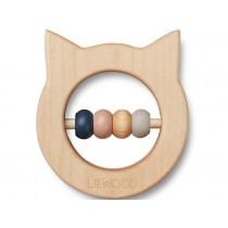 LIEWOOD Wood Rattle-Teether Ivalu CAT