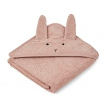 LIEWOOD Hooded Towel Baby Albert BUNNY old rose