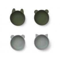 LIEWOOD Silicone Bowls IGGY hunter green mix