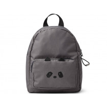 LIEWOOD Kids Backpack Allan PANDA dark grey 3-6