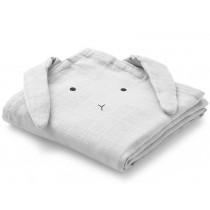 LIEWOOD Burp Cloth Hannah 2 Pack BUNNY grey